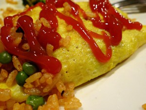 Japanese Fried Rice Omelet (Omurice)