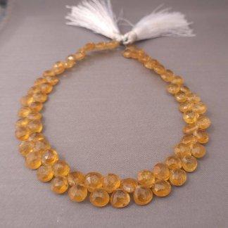 Yellow Tourmaline Briolette Beads