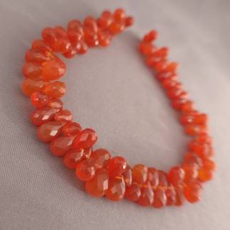 Faceted Carnelian Briolettes