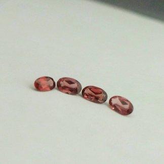 Faceted Garnet Ovals