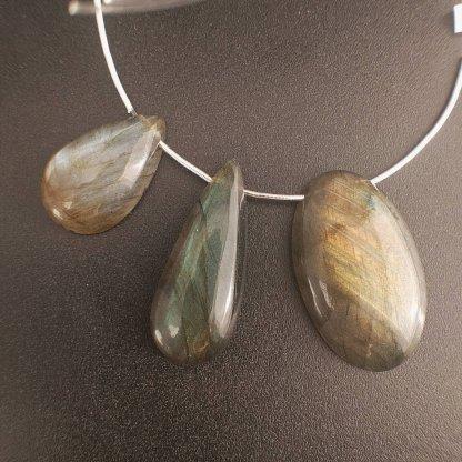 Labradorite Focal Beads