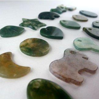 Moss Agate Beads