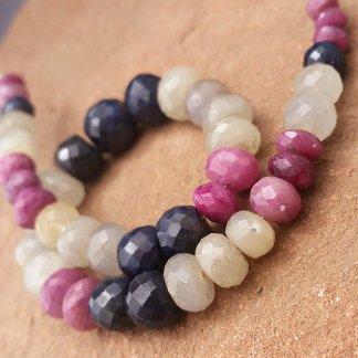 Sapphire Rondelle Beads
