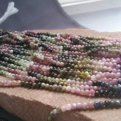 Tourmaline Sphere Beads