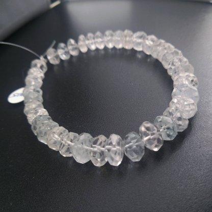 Aquamarine Rondell Beads