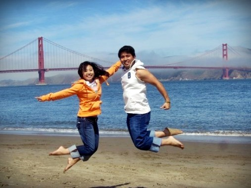 Yay! We love it here that's why we are jumping for joy! :D
