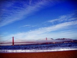 The view of the bridge from Crissy Field.