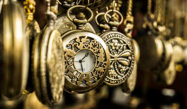 brass pocket watches to represent the present moment