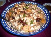 Tajine de poulet et agneau aux abricots et pruneaux