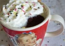 Mug cake au nutella