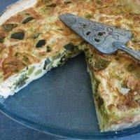 Tarte aux légumes, curry et lait de coco