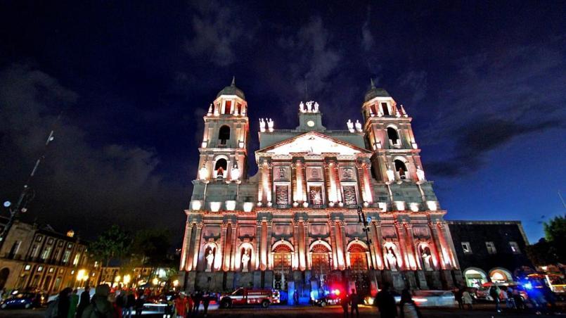 Iluminación de la Catedral de Toluca