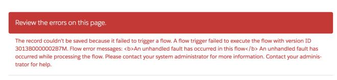 Flow error