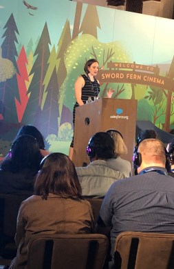 Jessie speaking at Dreamforce