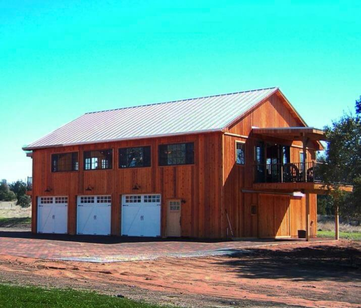 Building a pole barn homes kits cost floor plans designs for Two story pole building plans