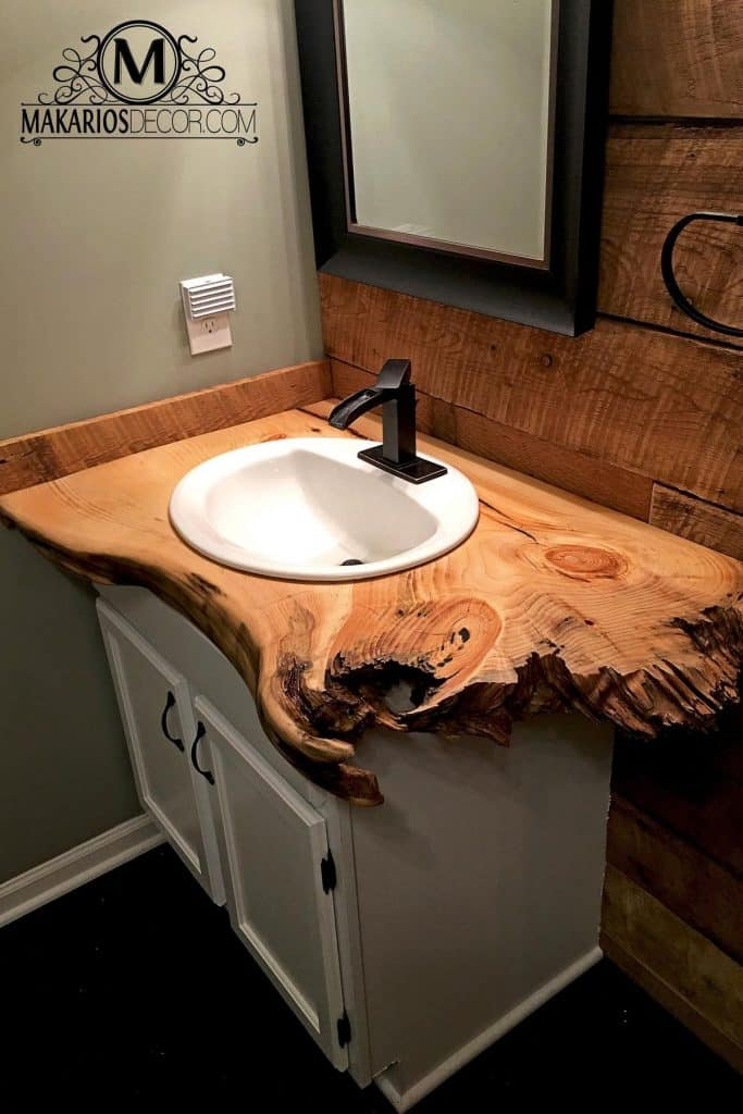 ideas for rustic bathroom vanities