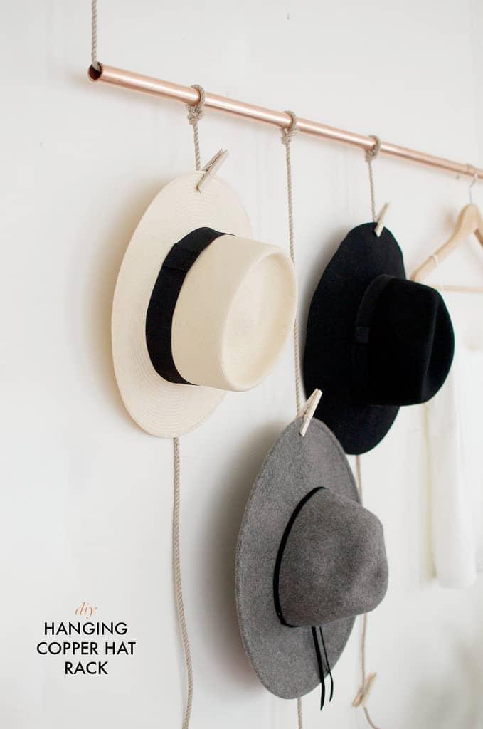 20 Diy Hat Rack Ideas For Beautiful Headgear Display