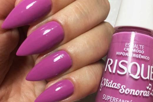 Esmalte Risqué Vidas Sonoras - Superfantástico Rosa Mágico