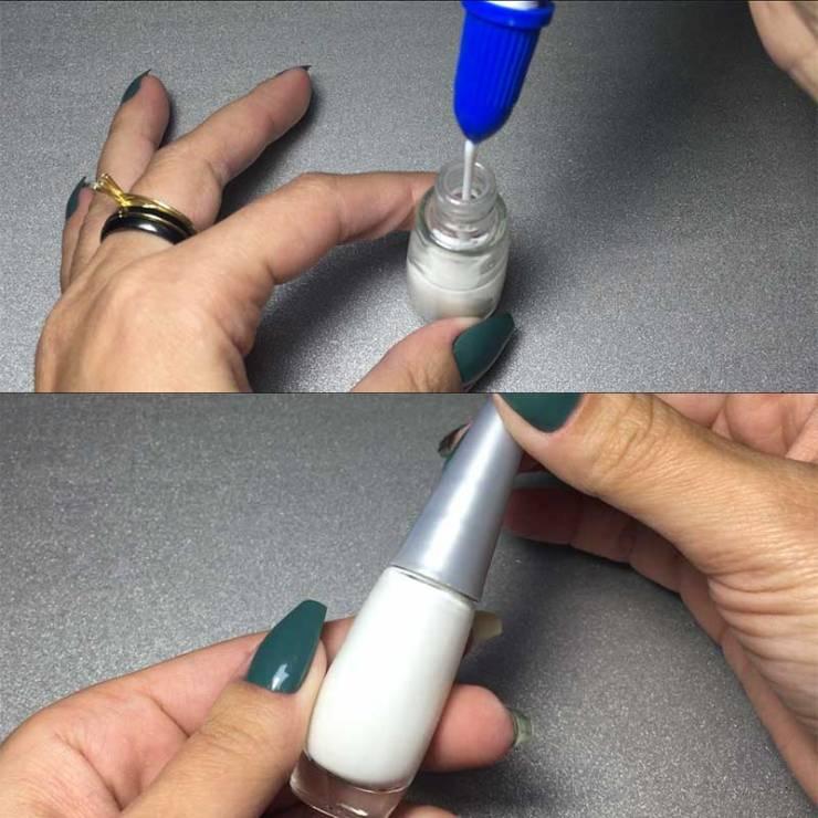 TUTORIAL: Como Fazer Fita Líquida para Unhas (Liquid Palisade) com cola branca