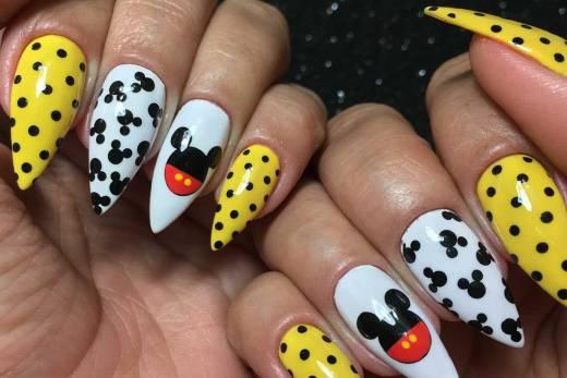 Unhas Decoradas Mickey #01