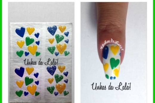 Unhas Decoradas corações brasil