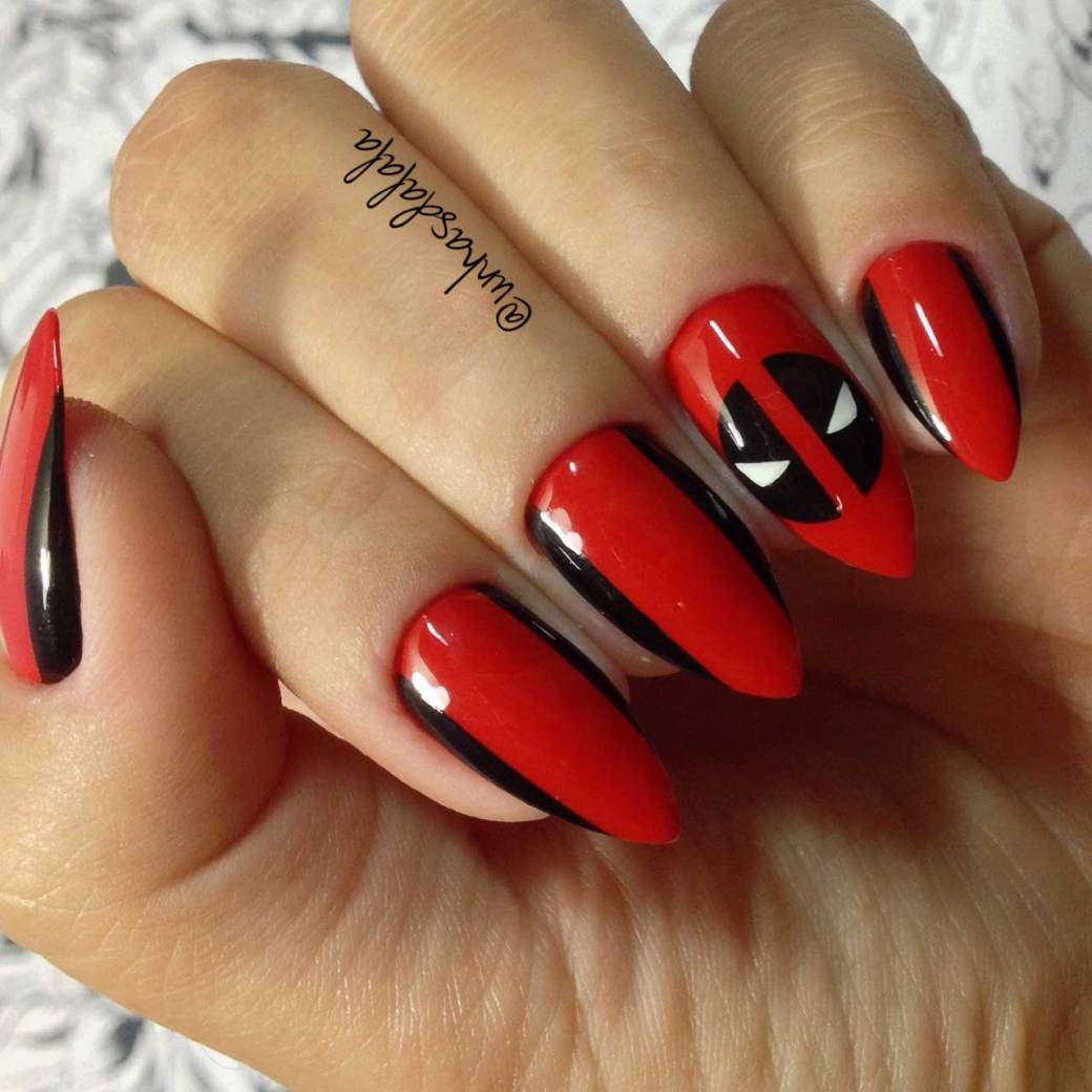 unhas decoradas deadpool-02