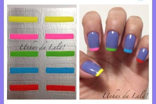 Unhas Decoradas Francesinhas Colors
