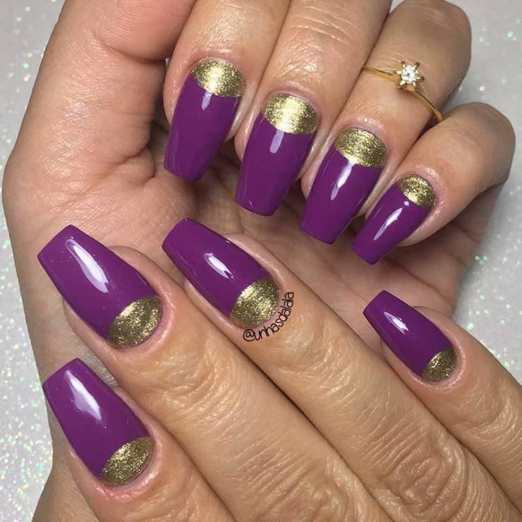 É como disse a Berenice.: Nail art: Meia Lua Triangular