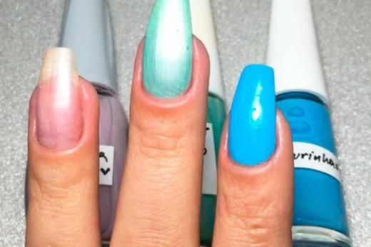 TUTORIAL: Como Fazer Esmalte com Sombra de Olho