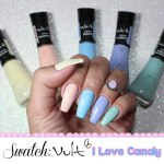 Coleção I Love Candy – Esmalte Vult Cosmética – SWATCH