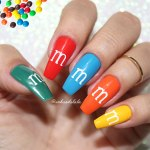 Unhas Decoradas M&M's