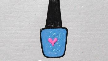 como desenhar morango fofo unhas da lalá