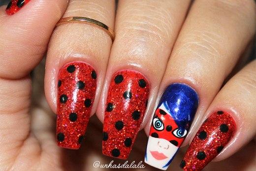 Unhas Decoradas Miraculous Ladybug