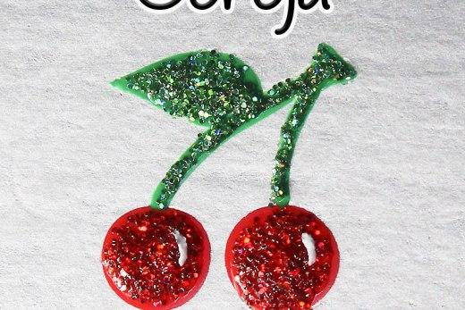 Como Desenhar Cereja com Glitter