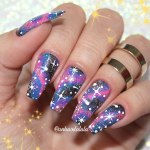 Unhas Decoradas Galáxia (Galaxy Nails)