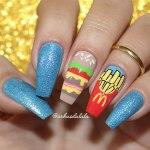Unhas Decoradas McDonald's – Hambúrguer e Batata Frita