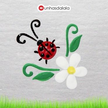 desenhando joaninha + flor