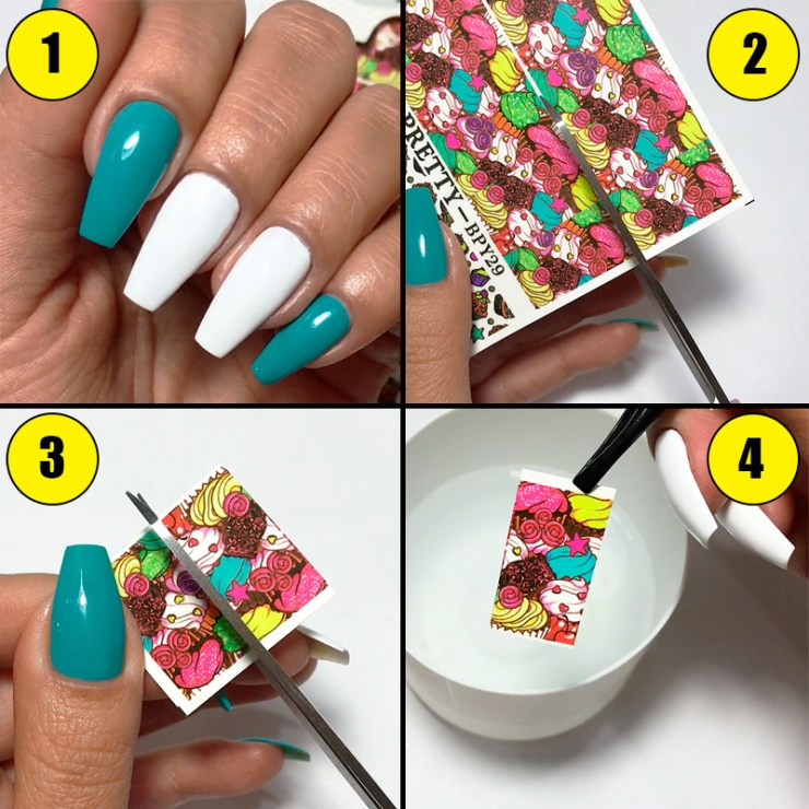 Tatuagem De Unha Nail Water Decal Da Born Pretty Store