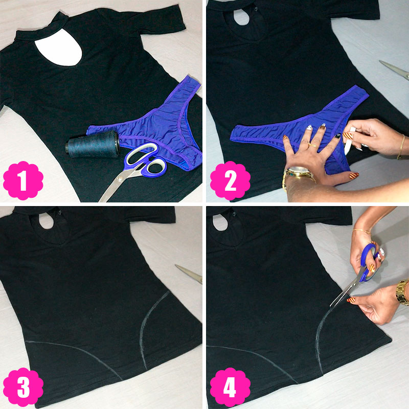 diy customizando roupa - body