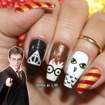 Unhas Decoradas Harry Potter