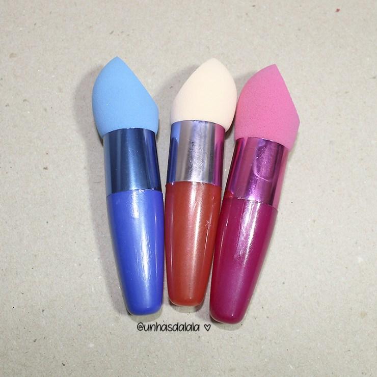 recebidos gear best, produtos gear best, recebidos, recebidos da lalá, esponja de maquiagem