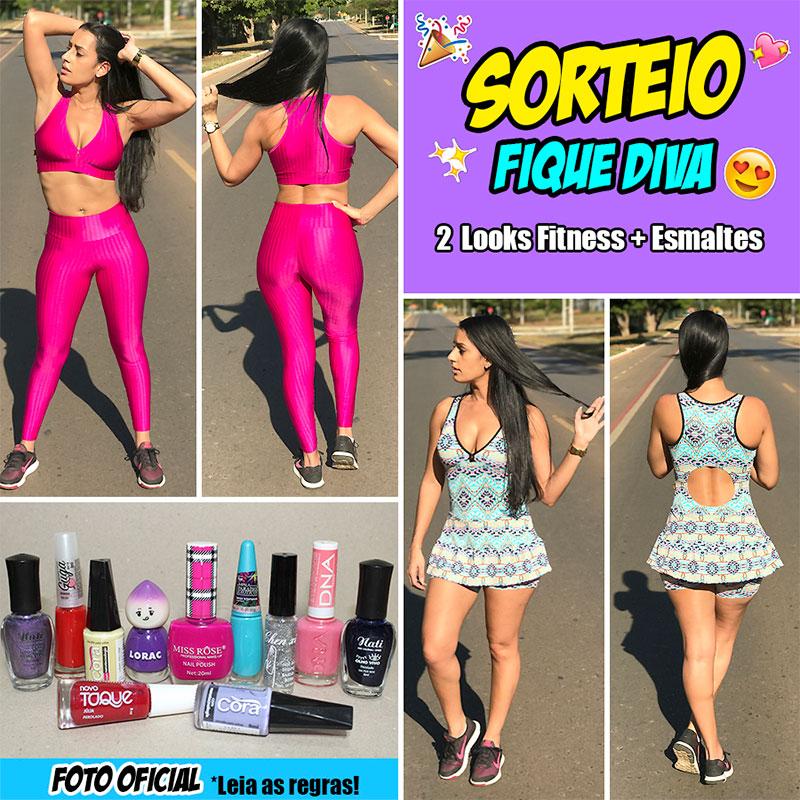 Sorteio Fique Diva - Roupas Fitness da Bella Ginástica + Esmaltes