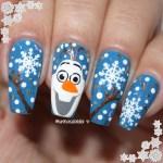 Unhas Decoradas Para o Natal – Olaf Frozen