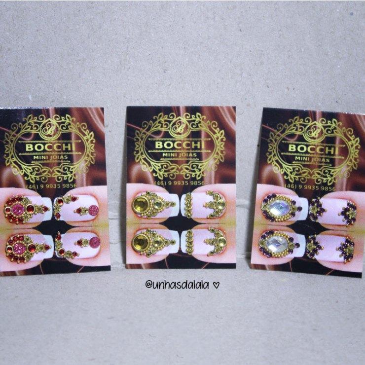 bocchi mini joias, joia de unha, joias de unha, mini joia para unhas, recebidos, unhas decoradas com joia, recebidos unhas da lala, youtube unhas da lala
