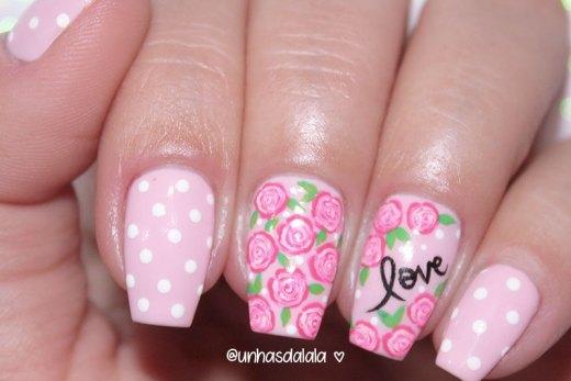 Unhas Decoradas Dia das Mães, dia das mães, happy mothers day nails, feliz dia das mães, unhas com rosas, unhas escrito love, unhas love, unhas rosas, esmalte rosa, esmalte rosa bebê, rosa bebê, unhas da lalá, unhas decoradas, nail art