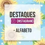 CAPAS PARA DESTAQUE DO INSTAGRAM – ALFABETO