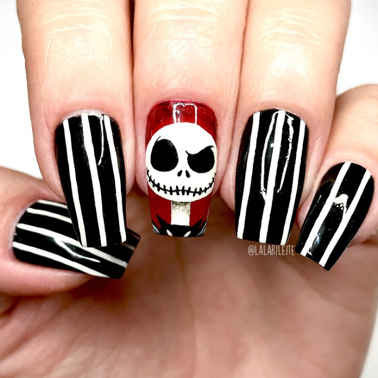 halloween, unhas halloween, unhas de halloween, unhas decoradas halloween, unhas jack esqueleto, unhas jack skellington, jack skellington nails, nail, nails, nail art, tim burton art, desenhos tim burton, unhas da lala, larissa leite, ideias unhas halloween, unhas dia das bruxas, unhas decoradas