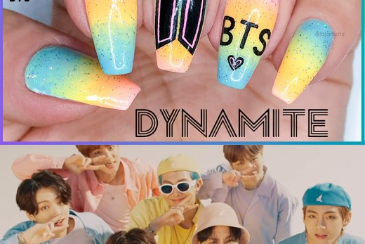 unhas bts, bts, bts dynamite, bts nails, unhas decoradas bts, bts nail art, nail art, nail art bts, kpop, kpop nails, unhas bailarina, coffin nails, dynamite, bts armys, bts army, army bts, armys bts, unhas degrade, ombre nails, candy colors, unhas multicoloridas, multicolor nails, esmaltes tons pasteis, larissa leite unhas, larissa leite