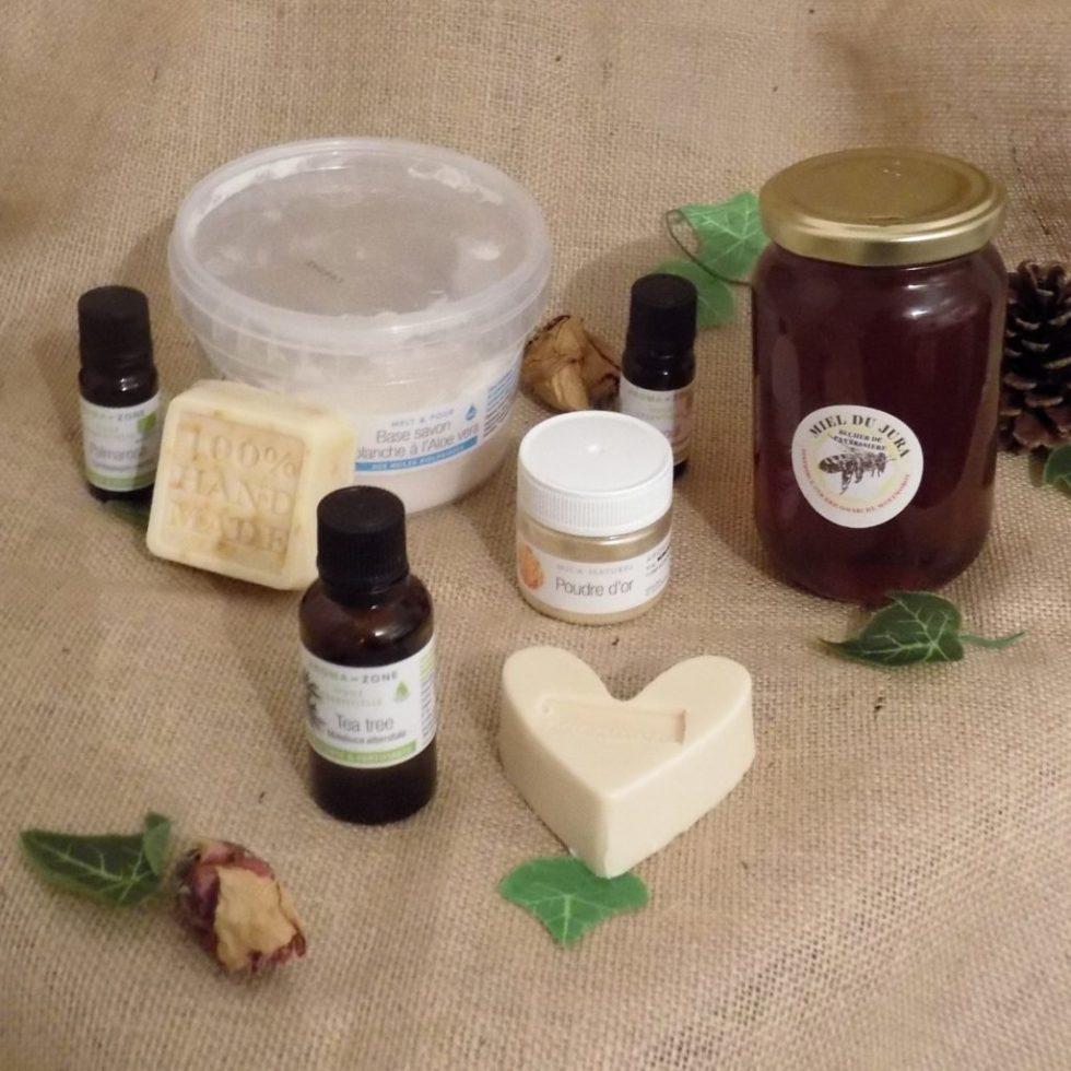 savon au miel et aux huiles essentielles