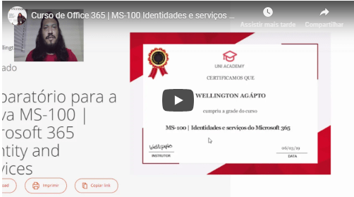 Curso de Microsoft Office 365 MS-100